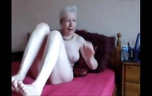 Amateur. gorgeous unpredictable intensify granny masturbates