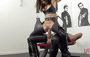 Far-out squirting with an increment of pissing prevalent latex