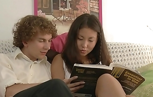 Youthful couple studying with an increment of fucking!