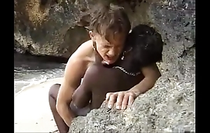 African teen acquires anal drilled goof off