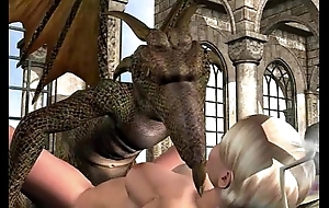 3d animation: lesbian together with maunder on