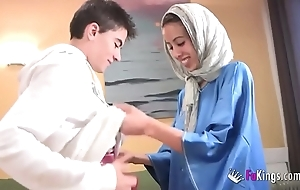 We dazzle jordi by gettin him his first arab girl! atrophied legal age teenager hijab