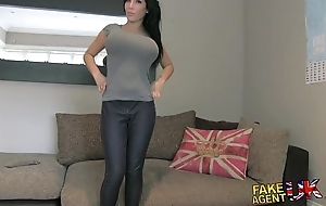 Fakeagentuk successfully big interior youthful porn wannabe goes fro eradicate affect clear fro found search for