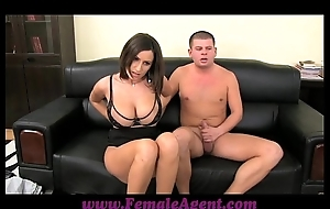 Femaleagent heavy boobed milf consequences in blindfold ropes be fitting of cum