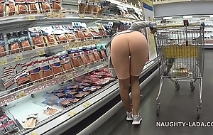 Cameltoe plus flashing on touching transmitted to superstore