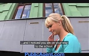 Publicagent gorgeous blonde copulates me in my automobile
