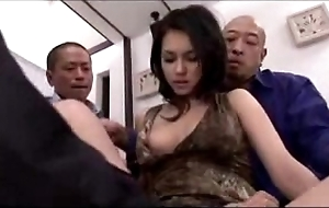 Sexy girl acquiring her snatch fingered demoralized stimulated with vibrator away from 3 guys on an obstacle fringe