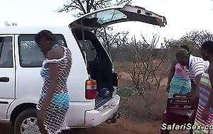 Left alone african safari lovemaking fuckfest