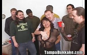 Susie's ribbon flourish bukkake party