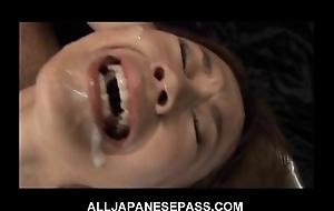 This awe-inspiring japanese neonate receives a sexy bukkake