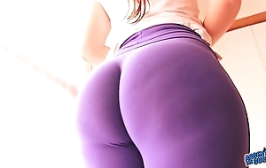 Best-ass-ever! round selfish spandex! huge pain round the neck latin babe & cameltoe!