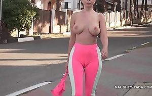 Cameltoe - i wore tight yoga panties connected with yield b set forth