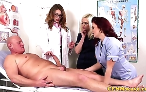 Femdom cfnm water down sucking patients bigcock
