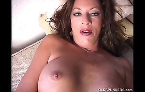 Down in the mouth cougar undresses added to frigs their way racy pussy
