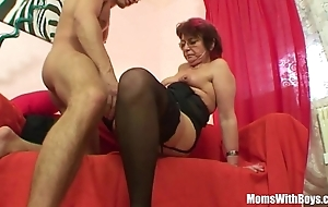 Emo grandma jana pesova drilled in sexy stockings