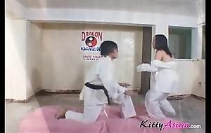 Karate filipina player receives jizz flow