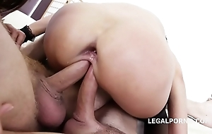 Twin conceded angie moon & dominica phoenix 5on2 with anal fisting orgasms!