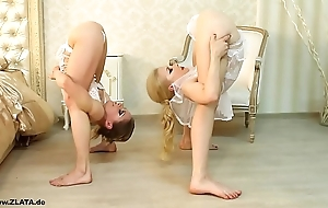 Contortionists zlata and tanya in confines