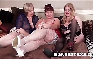 3 sexy honcho improper british grannys suck & lady-love young toyboy! hardcore xxx bareback action! chunky facial!