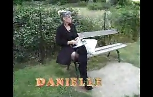 Imbecilic french old mature going to bed here garden