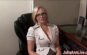 Milf julia ann fantasies around engulfing cock!