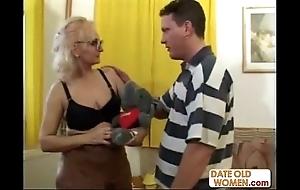 Large glasses alien grandmother