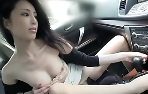 Magnificent japanese descendant have sexual intercourse increased by swept off one's feet nearby a motor car