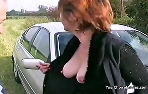 Older of age truss daring alfresco sex