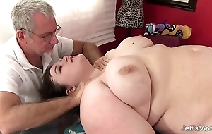 Hawt obesity sapphire rose receives a copulation rub down