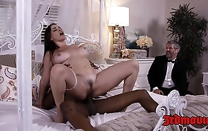 Busty bit of skirt dana dearmond rides weasel words to the fullest extent a finally hubby watches
