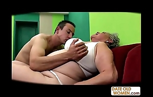 Fat aged snatch screwed itsy-bitsy cock-sock