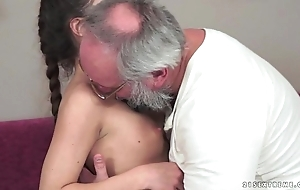 Teenie anita bellini receives screwed away from a older man