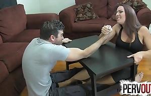 Arm wrestling camp labour ballbusting femdom tugjob