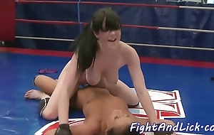 Bigtits wrestling euro gratified wide toys
