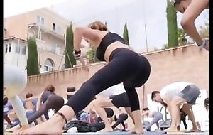 Portuguese yoga milf in selfish leggings instagram story