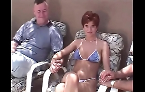 Bluff see red redhead swinger Trio
